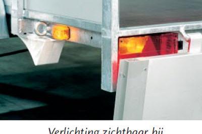 Anssems bakwagen BSX1350 1as geremd 205x120x35cm 1350kg