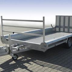 Hulco minigravertrsport. TERRAX2-3000LK 2as rem 394x180cm 3000kg/klep150