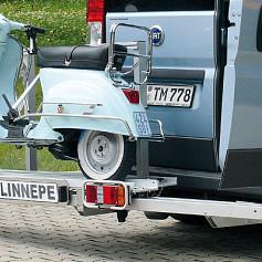 Dynad/Linnepe Bokster scooterdrager voor Buscamper