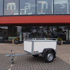 Economy Line Bagagewagen 1-as ongeremd 200x100cm/750kg