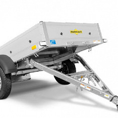 Humbaur Startrailer DK 1as ongeremd 377x180x30cm 750kg