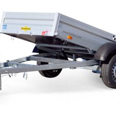 Humbaur HA kiepbaar Alu 1as ongeremd  251x131x35cm 750kg