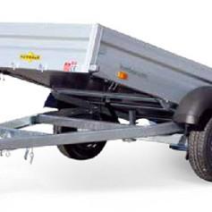 Humbaur HA achterw kipper 1-as geremd 251x131x35cm 1300kg