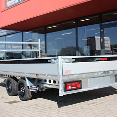 Henra Xpert plateauwagen 2as geremd 453x202x30cm 3500kg