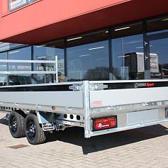 Henra Xpert plateauwagen 3x1500kg-as geremd 453x222x30cm 3500kg