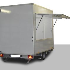 Economy verkoopwagen DT3-00 1as geremd 300x220x230cm 1300kg