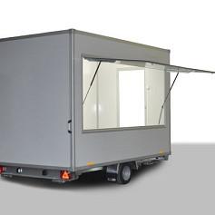 Economy verkoopwagen DT4-20 1as geremd 420x220x230cm 1300kg