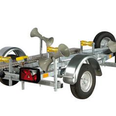 PEGA boottrailer voor opblaasboten met zachte bodem