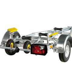 PEGA boottrailer voor opblaasboten met harde bodem