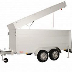 Anssems Bagagewagen GTT1500VT2 geremd  301x126cm/1500kg