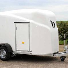 DeBon Cargo 1300 Wit +Zijdeur Poly 1as rem 300x155x175cm 1300kg