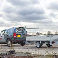 Henra Plateauwagen 1-as geremd 301x155cm/1500kg