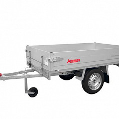 Anssems plateauwagen PLT750 1-as ongeremd 231x132cm/750kg