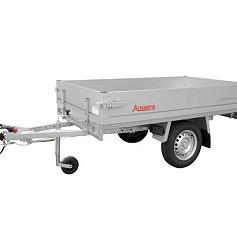 Anssems plateauwagen PLTB1000 1-as geremd 231x132cm/1000kg