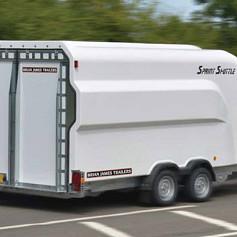 Brian James Sprint Shuttle 2-as laadvloer 4.3 m klep/kantelbaar