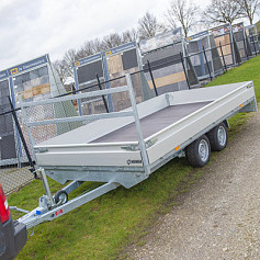 Henra Plateauwagen 2as geremd 453x222x30cm 3000kg
