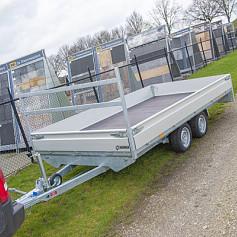 Henra Plateauwagen 2as geremd 453x248x30cm 3000kg