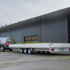Henra Plateauwagen 3x1500kg-as geremd 401x185cm/3500kg