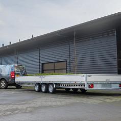 Henra Plateauwagen 3x1500kg-as geremd 401x202cm/3500kg