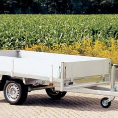 Anssems plateauwagen PSX1350 1-as geremd 251x153cm/1350kg