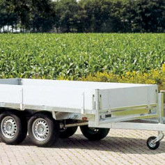 Anssems plateauwagen PSX2500 2-as geremd 405x178cm/2500kg